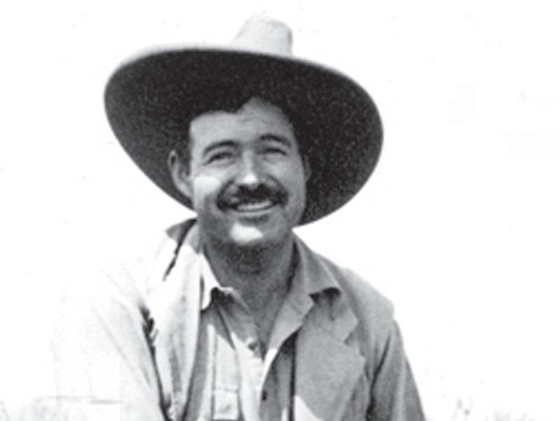 Ernest Hemingway on safari, Africa in 1934. ERNEST HEMINGWAY PHOTOGRAPH COLLECTION, JOHN F. KENNEDY PRESIDENTIAL LIBRARY AND MUSEUM, BOSTON