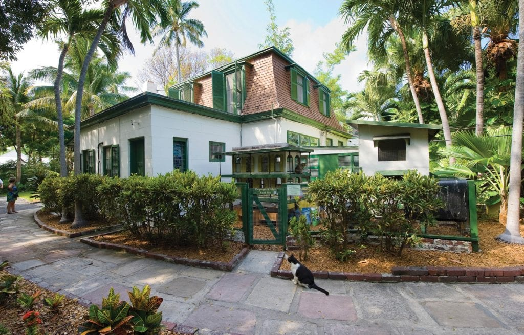 The building where Ernest Hemingway worked on the compound of the Hemingway House in Key West. SHUTTERSTOCK PHOTO