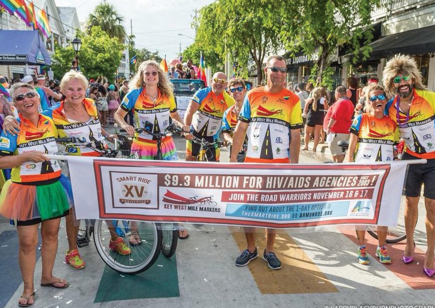 Hughes is a proud member of the Key West Mile Markers Smart Ride Team, which rides to raise money for HIV/AIDS agencies. LARRY BLACKBURN / COURTESY PHOTO