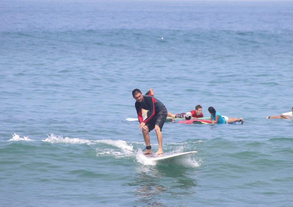 Above: Kaufelt surfing in Puerto Escondido, Mexico. COURTESY PHOTOS