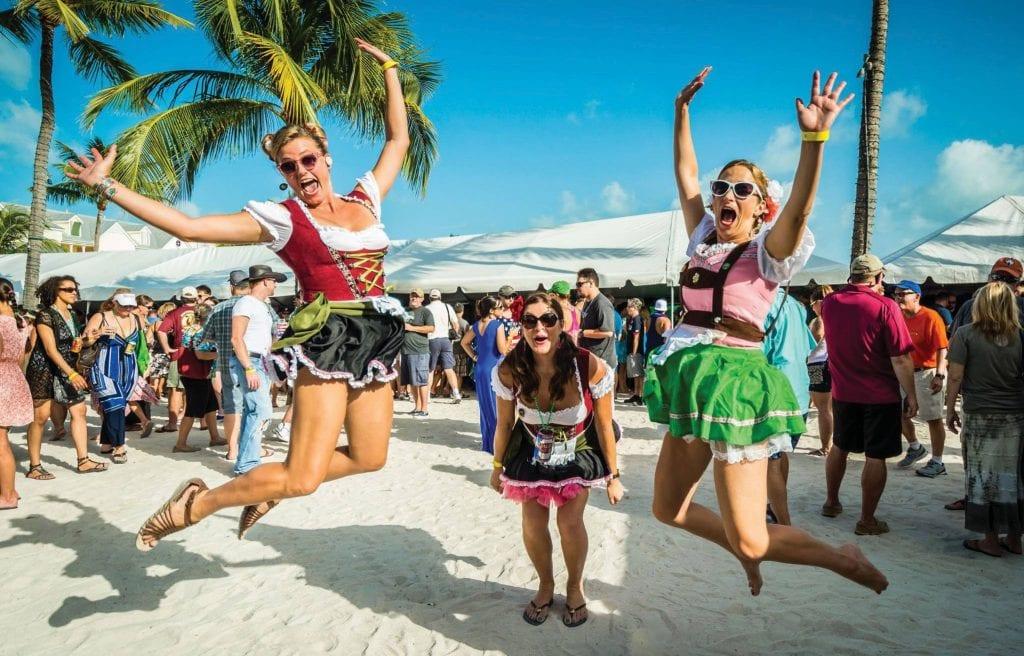 You don't need a dirndl to enjoy Key West BrewFest. COURTESY PHOTOS