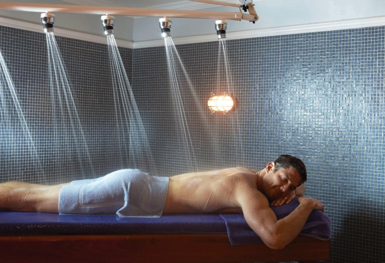SpaTerre's Vichy shower is a direct path to Zen. COURTESY PHOTO