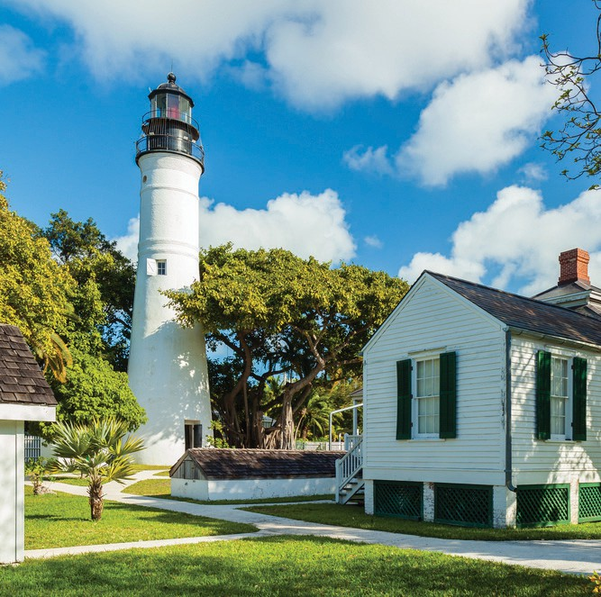 The historic Key West Lighthouse and Museum located on Whitehead Street. SHUTTERSTOCK.COM