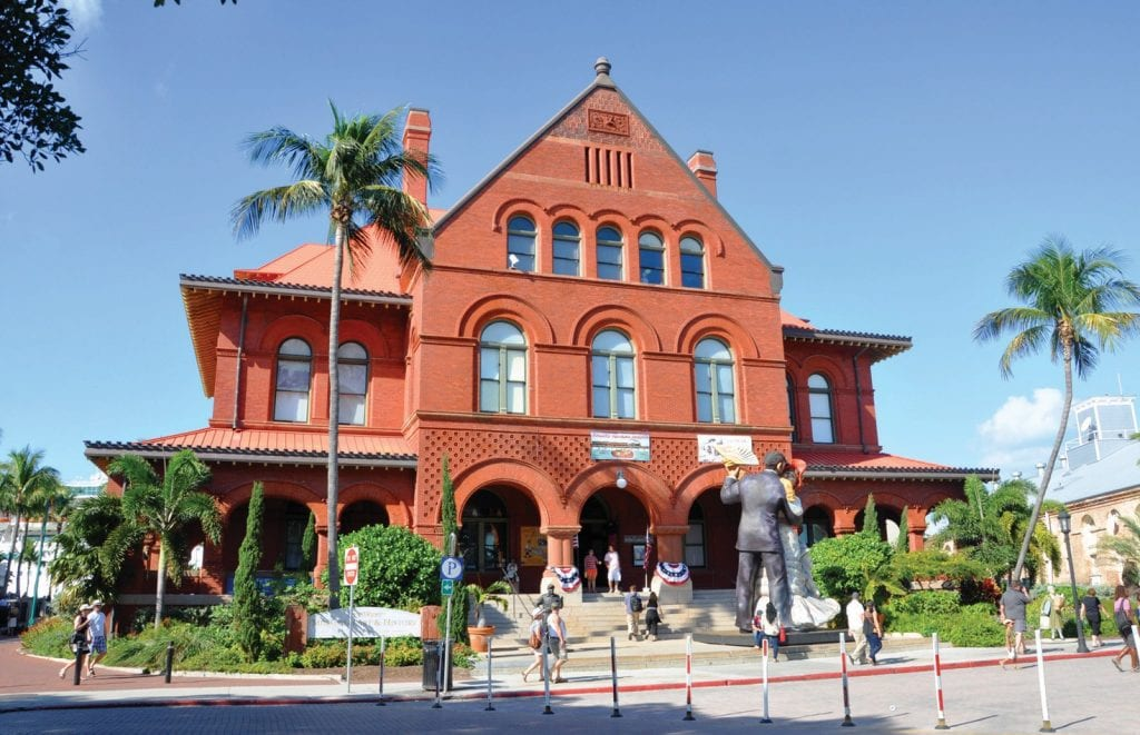 The Custom House is displays Key West's art and history in downtown Key West.