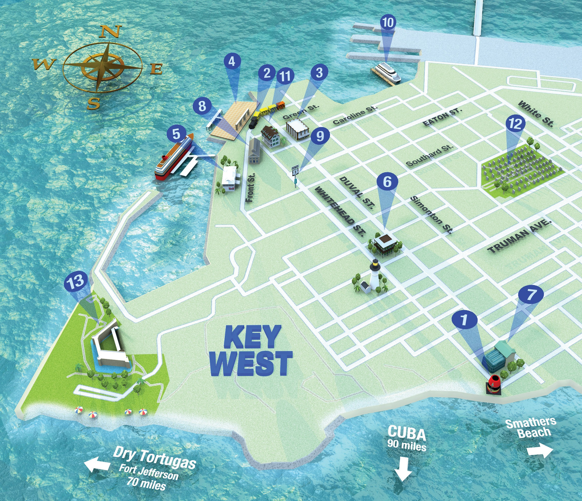graphic regarding Printable Map of Key West identify Turning into in close proximity to Major West Secret West Florida Weekly Secret West