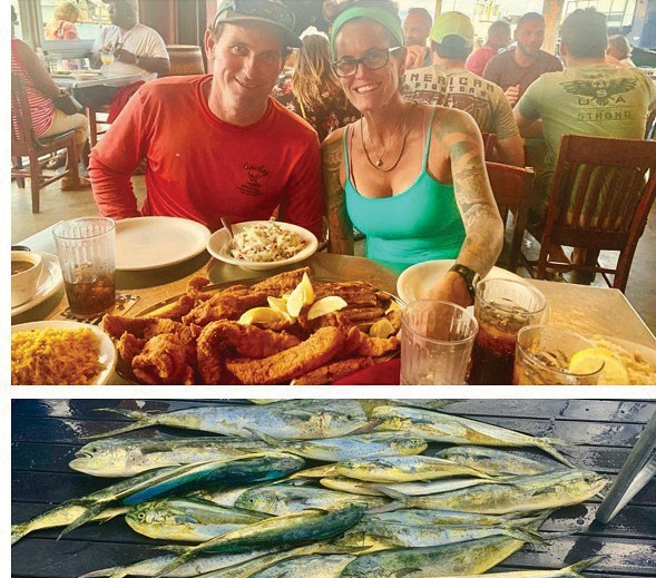 Cowboy Cowgirl Sportfishing Charters: This is what the leftover fresh fish turns into for the crew of the Cowboy fleet. @conchrepublicseafoodcompany did an amazing job: blackened, fried and grilled. — Capt. Mark Baumgarten 1801 N. Roosevelt Blvd., Key West Private and shared charters 305-294-5888 keywestfishing-charters.com