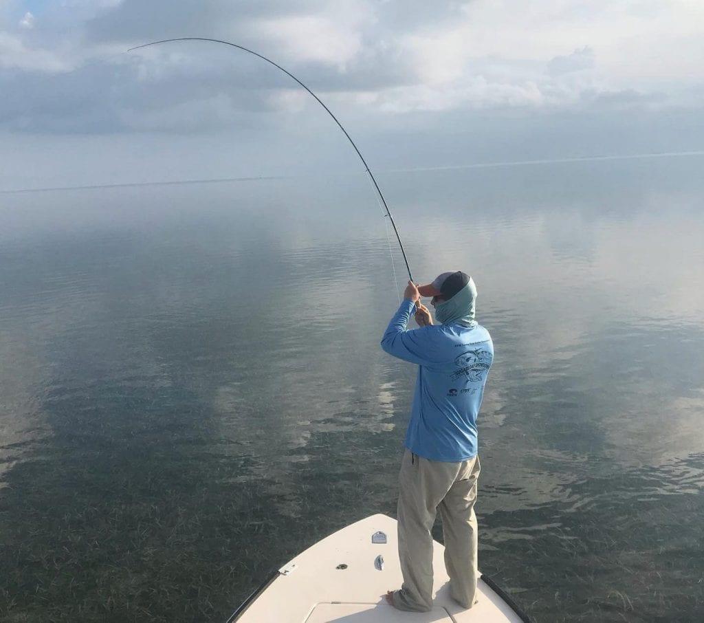 Captain Eric Ryan Fishing: Rob, getting some nice bone action on a slicked-out morning! Also had shots at permit. — Capt. Eric Ryan Hurricane Hole Marina, 5130 US Hwy. 1, Key West 248-921-5558 Flatsfishingthekeys.com