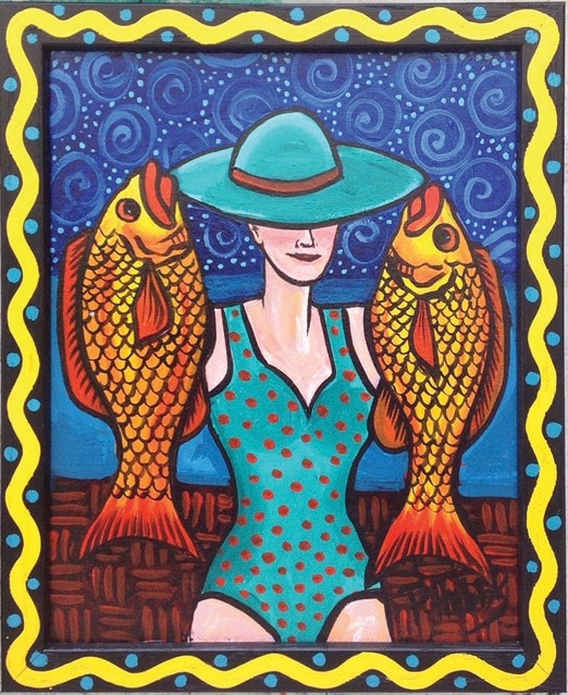 "A piece from Pam Hobbs' ""Women With Fish"" exhibition. COURTESY PHOTO"
