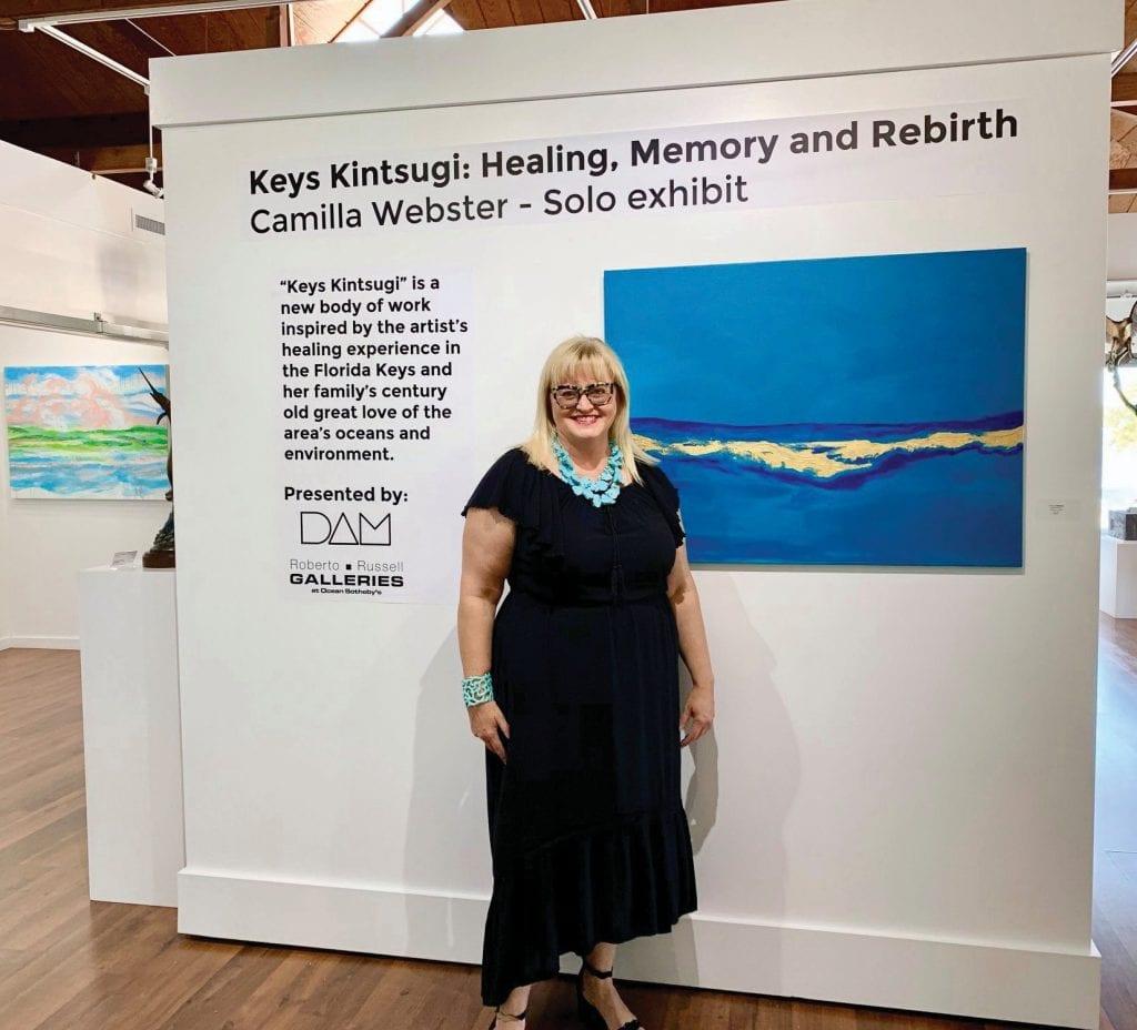 "Camilla Webster debuts the exhibit ""Keys Kintsugi."" PHOTO COURTESY OCEAN SOTHEBY'S INTERNATIONAL REALTY"