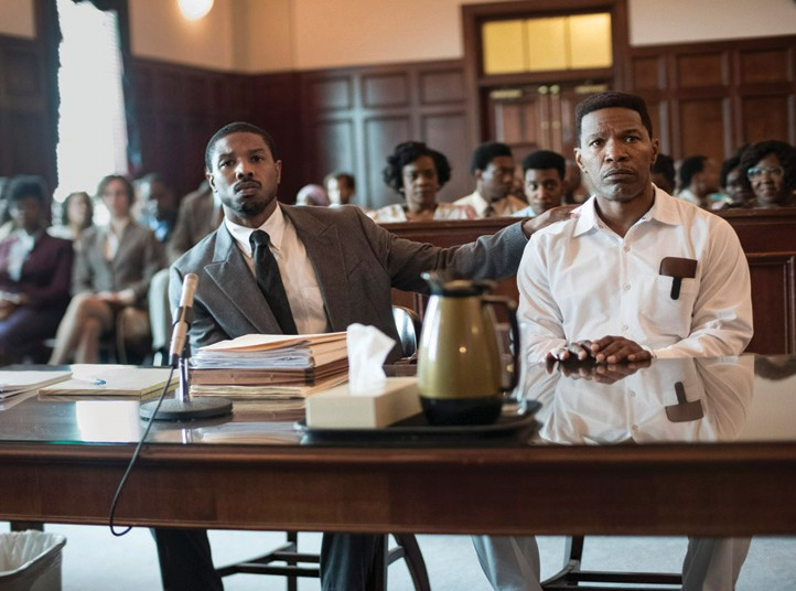 "Actors Michael B Jordan and Jamie Foxx star in director Destin Daniel Cretton's ""Just Mercy,"" one of two 2019 Key West Film Festival Centerpiece films. WARNER BROTHERS / COURTESY PHOTO"
