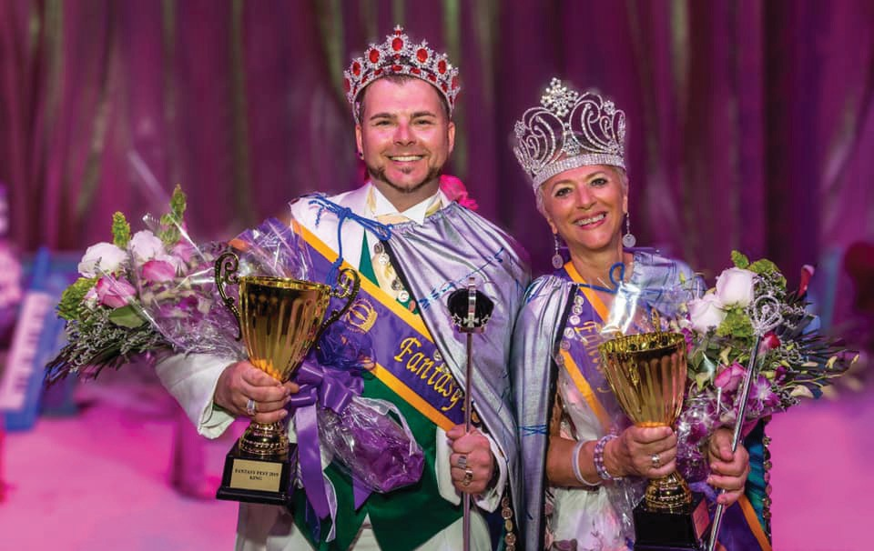Above: The 2019 Fantasy Fest King and Queen, Ryan Acker and Karen Frank-Noll. COURTESY PHOTO