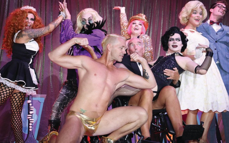 "Left: The cast of the Waterfront Playhouse's ""Rocky Horror Picture Show"" helped move the three hour Fantasy Fest King and Queen Royal Coronation along nicely. MICHAEL BLADES / COURTESY PHOTO"