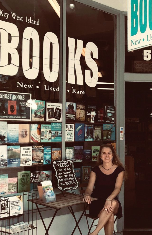 Suz Orchard greets guests at Key West Island Books, located at 513 ½ Fleming St. COURTESY PHOTO