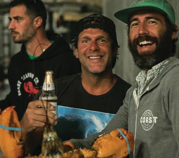 Musician Billy Currington (center) with Billy Kearins (right). COURTESY PHOTO