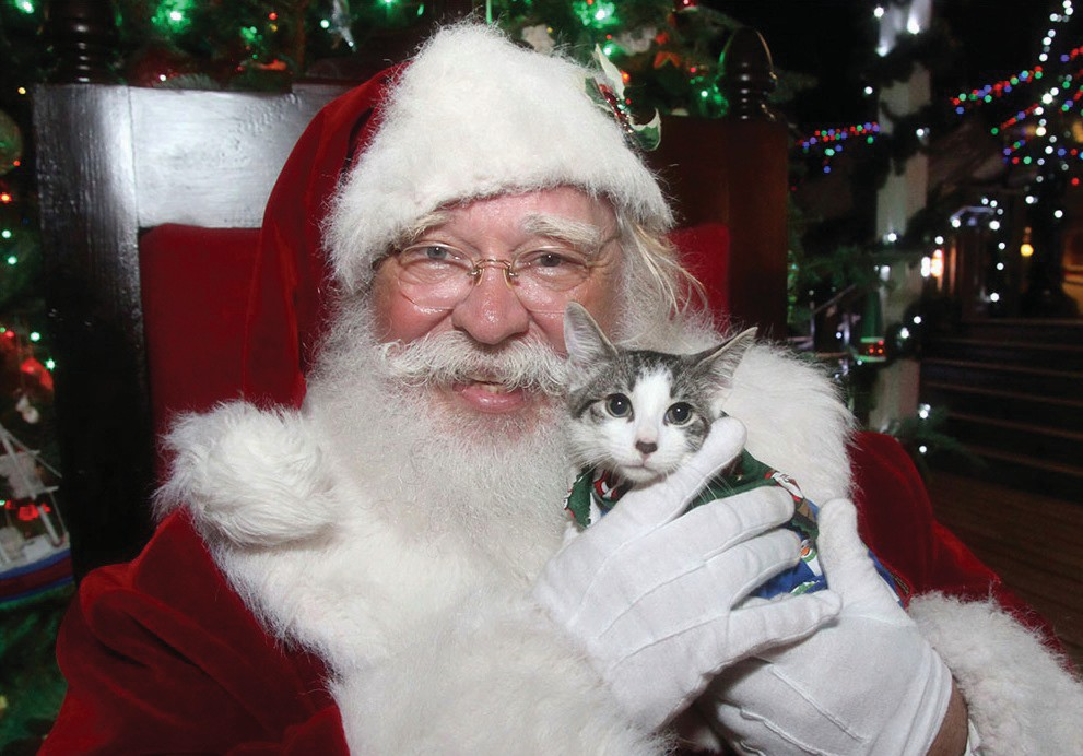 Get your pet photographed with Santa at the Parade of Paws & Holiday Bazaar on Dec. 14.