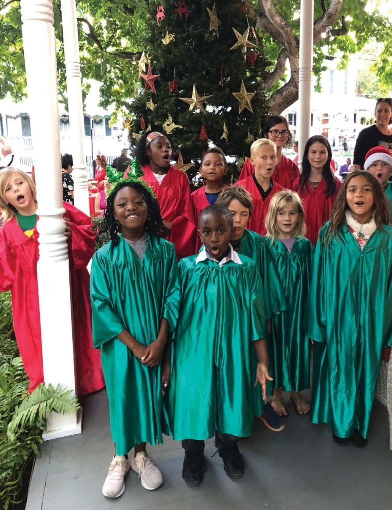 BVMP's Joyful Voices choir at a Holiday Open House at the Key West Woman's Club.