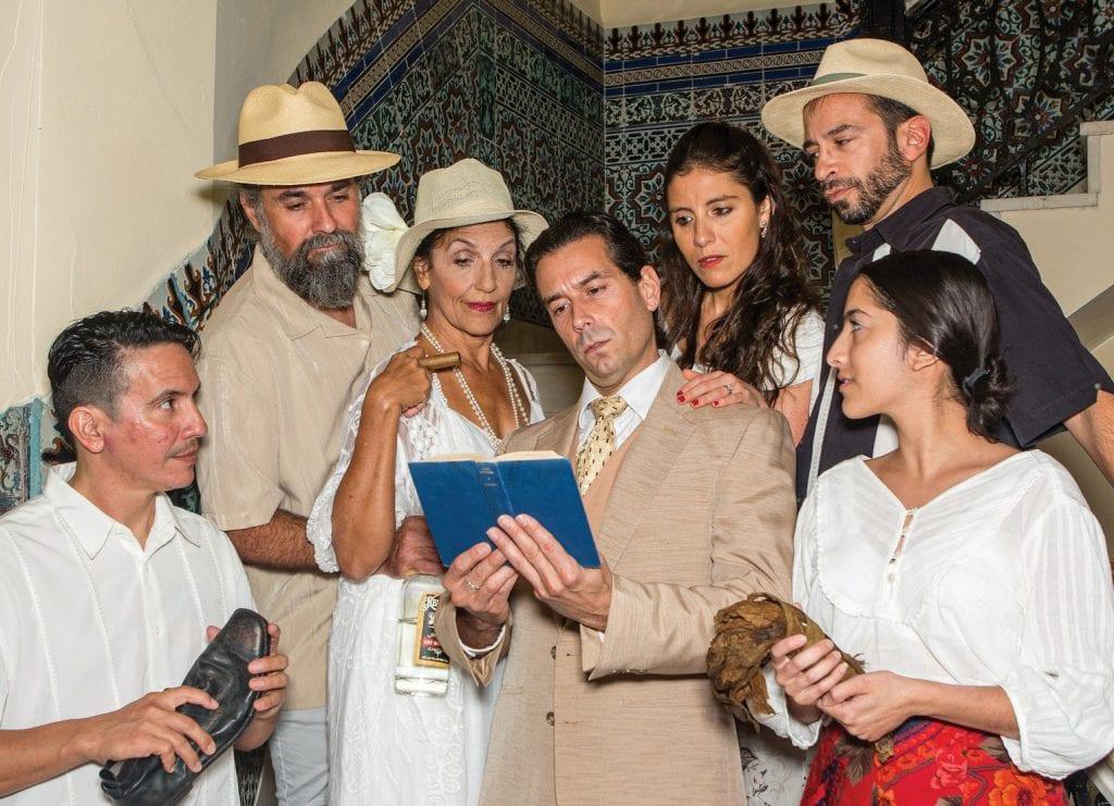 "The tropics and the American dream prove a volatile combination when Tolstoy's ""Anna Karenina"" is read aloud to the workers in ""Anna in the Tropics."" From left: Aramis Ikatu (Cheche), Christian Haler (Santiago), Mira Negron (Ofelia), Daniel T. Bochlas (Juan Julian), Francesca Silva (Conchita), Mathias Maloff (Eliades/Palomo) and Nayem Cardenas-Lopez (Marela). JOHNNY WHITE / COURTESY PHOTO"