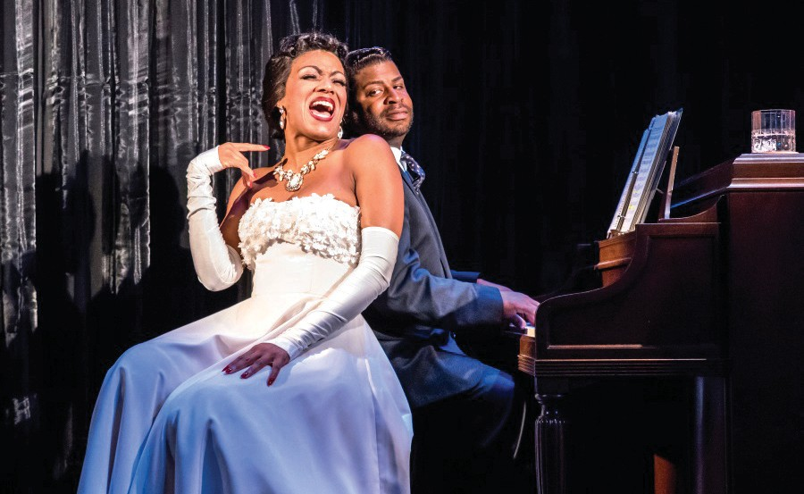 Tracey Conyer Lee as Billie Holiday and Kenney M. Green as Holiday's music director, Jimmy. COURTESY PHOTO / SUE AND MICHAEL KARCHMER