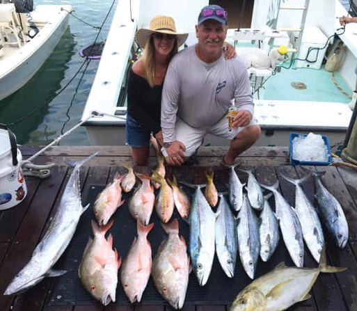 ¦ Outer Limits Charters: The reef fishing has been a ton of fun lately. This trip we caught over 30 fish, releasing quite a few fish of different species as well as what was kept! — Outer Limits Charters 700 Front St., Key West 305-923-1043 www.keywestcharterboat.com