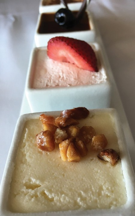 Try a flight of crème brulée for dessert at Latitudes on Sunset Key.