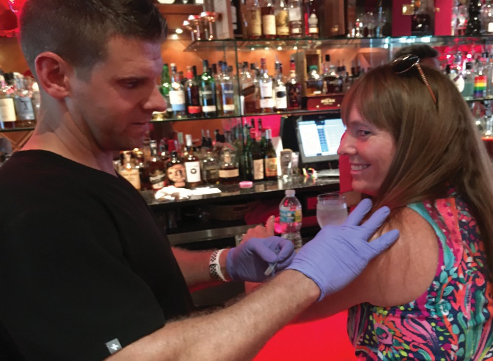 Hangover Hospital: A new definition of bar shots. CHELLE KOSTER WALTON / FLORIDA WEEKLY