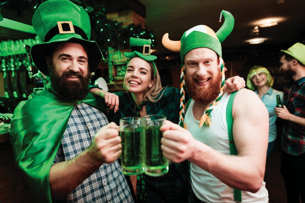 Green beer, shamrock decor galore and big smiles are on tap for St. Patrick's Day in Key West. COURTESY PHOTO