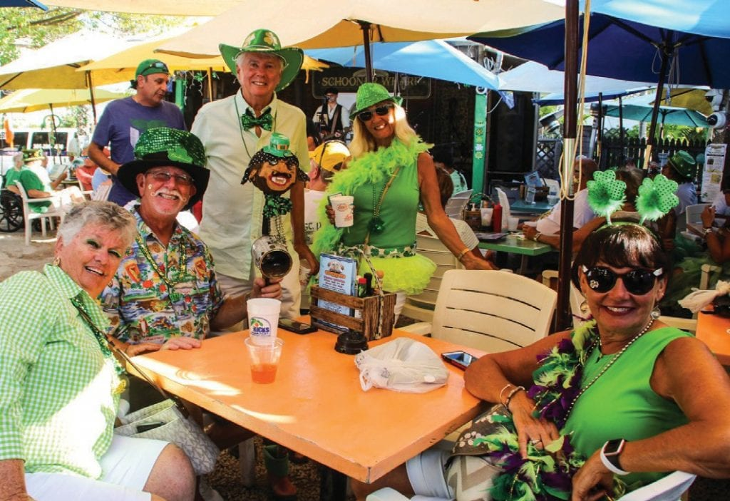 Run the Irish Kevin's Shamrock Shuffle (left) and then get into some St. Patrick's Day shenanigans at Schooner Wharf (right). COURTESY PHOTO