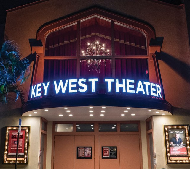 The marquee of the Key West Theater has become an architectural landmark. COURTESY PHOTOS