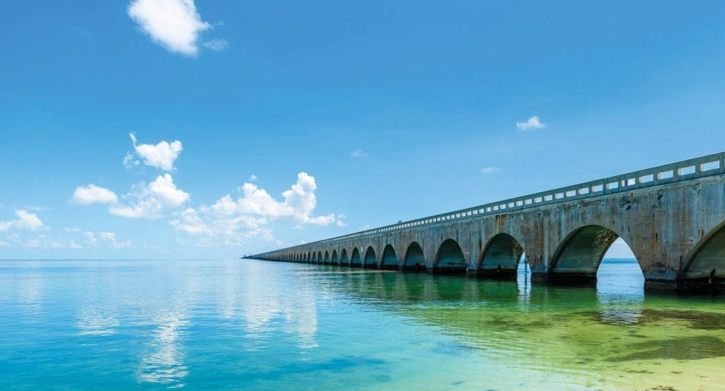 A bridge from the Florida Overseas Railroad still stands on the route to Key West. COURTESY PHOTO