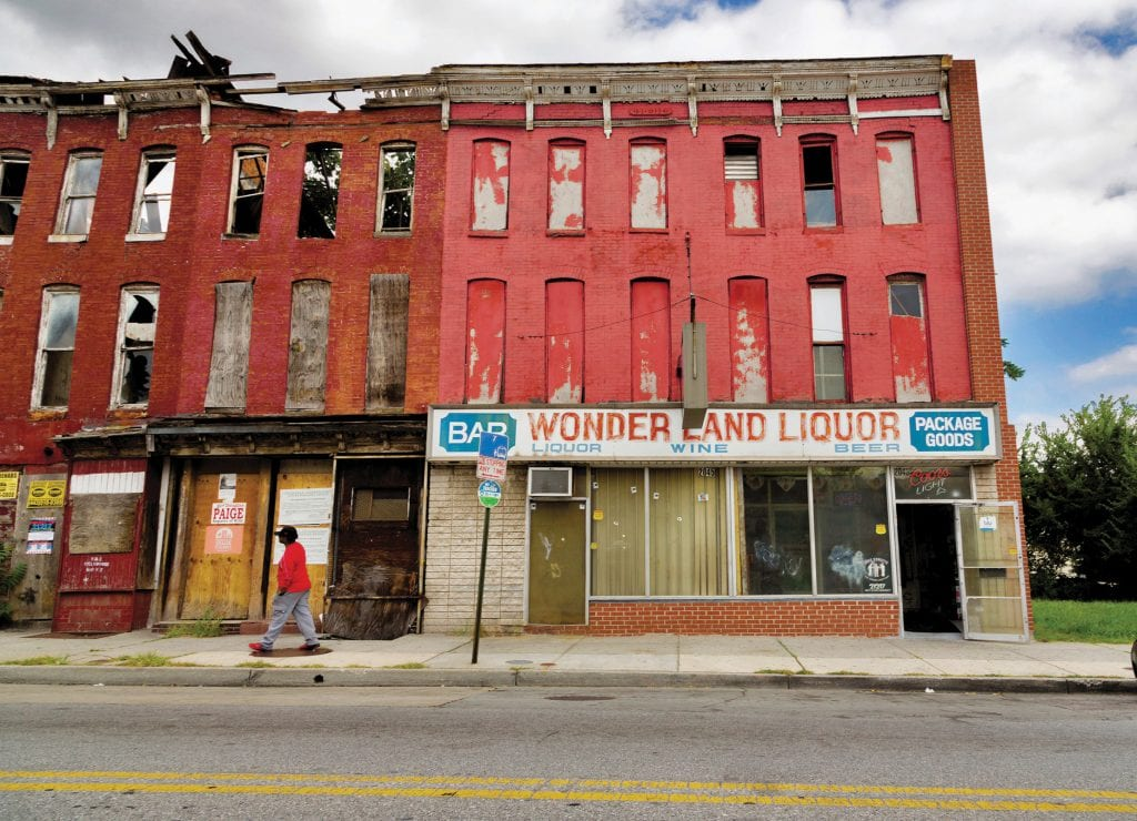 Wonderland Liquor, a former Green Book site in Baltimore, Maryland. CANDACY TAYLOR / COURTESY PHOTO