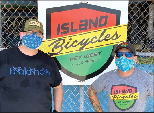 Dane Iseman and Ryan Smith, co-owners of Island Bicycles in Key West. COURTESY OF ISLAND BICYCLES