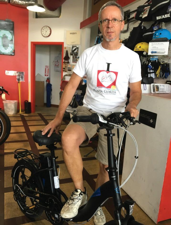 Philipp Pfaffli, owner of PedelecSQB Electric Bicycle Shop in Punta Gorda. LAURA TICHY-SMITH / FLORIDA WEEKLY