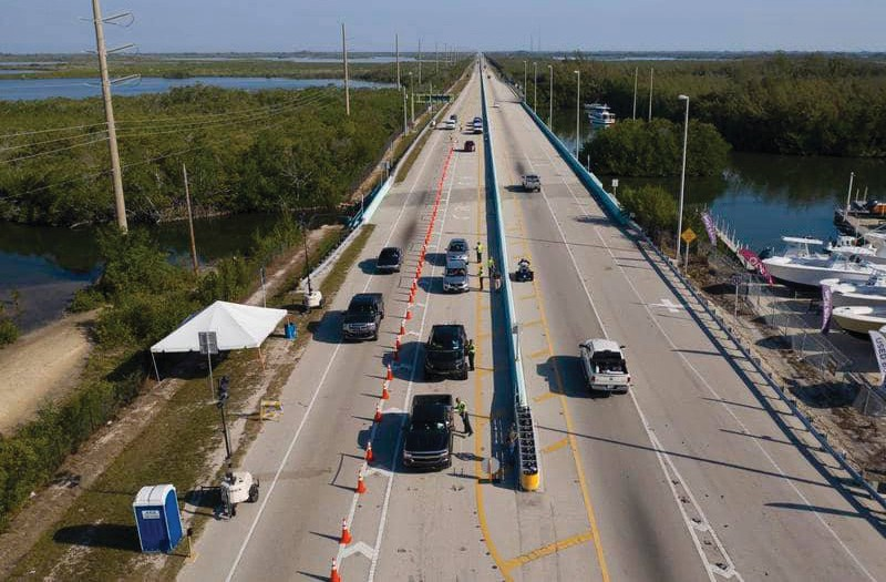 Checkpoint on the 18-mile stretch leading into Key West. COURTESY PHOTO