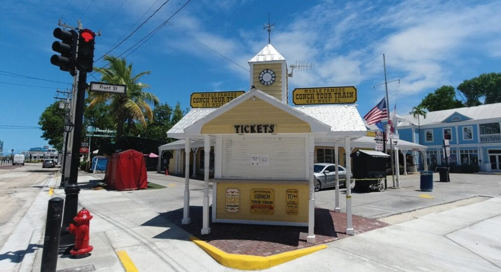 """For 66 days, Key West's Conch Tour Trains, usually full of sightseers, were nowhere to be seen. PHOTOS COURTESY FROM """"KEY WEST: 66 DAYS OF PARADISE, INTERRUPTED,"""""""