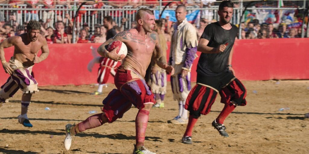 "Netflix premieres the series ""Home Game"" starting June 26, with games like calcio storico, above, and many others you've not heard of. NETFLIX IMAGE"
