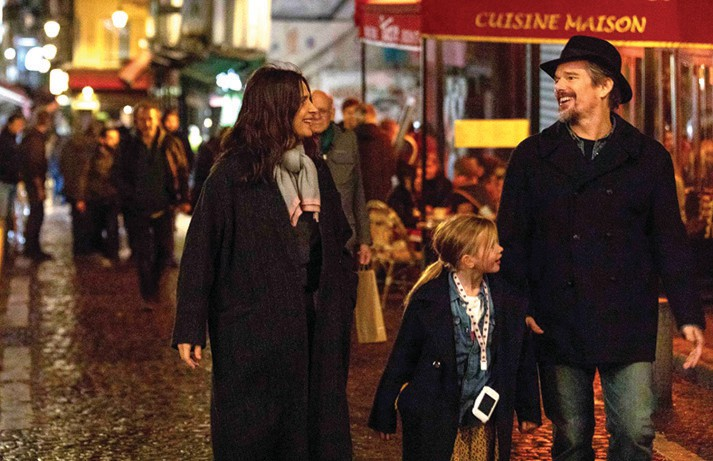 "Ethan Hawke, Juliette Binoche and Clémentine Grenier in ""The Truth,"" set to stream July 3. IFC FILMS PHOTO"