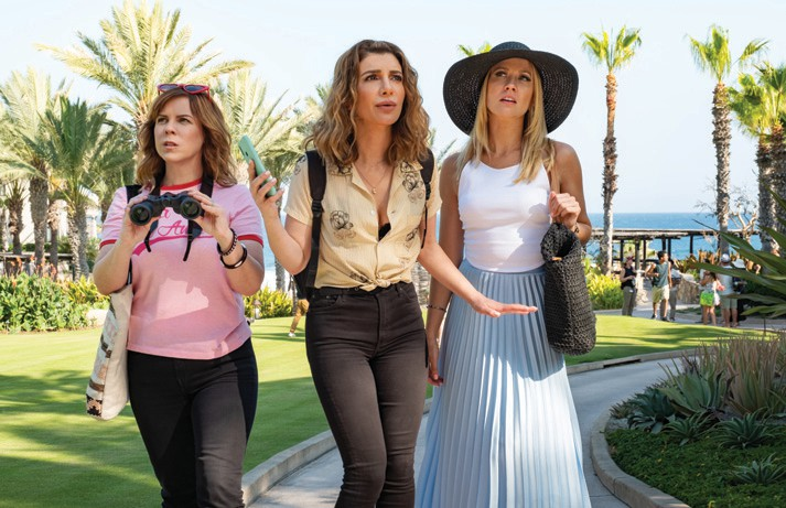 "Sarah Burns as Kaylie, Nasim Pedrad as Wesley and Anna Camp as Brooke in ""Desperados,"" set to stream on Netflix July 3. CATE CAMERON/NETFLIX IMAGE"