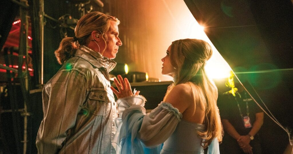 "Will Ferrell as Lars Erickssong and Rachel McAdams as Sigrit Ericksdottir in ""Eurovision Song Contest: The Story of Fire Saga,"" which is set to premiere on Netflix June 26. JOHN WILSON / NETFLIX IMAGE"