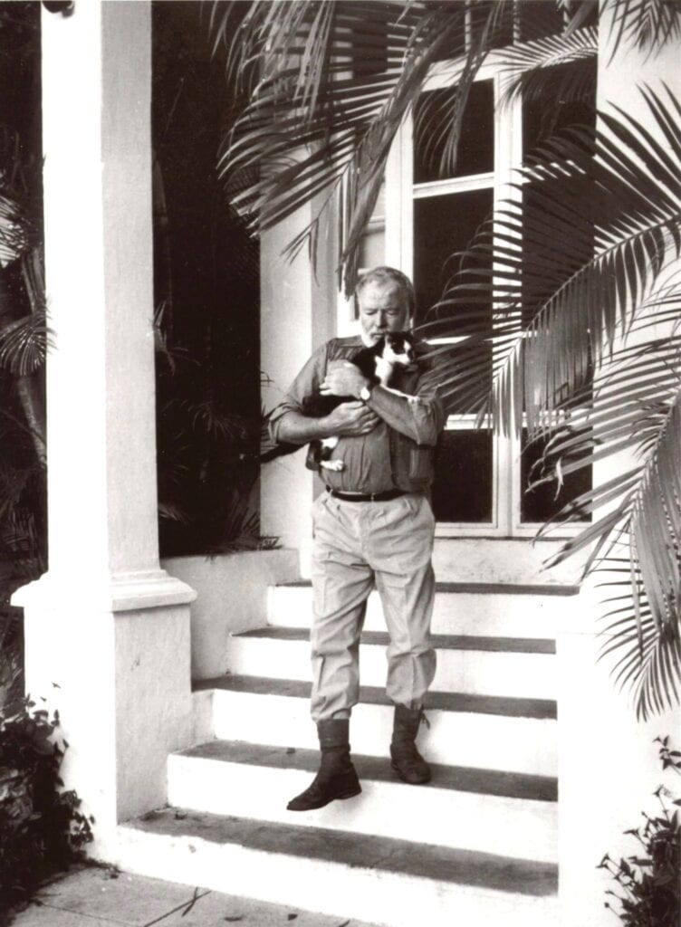 Ernest Hemingway also kept cats at Finca Vigia, his home in Cuba. COURTESY OF THE HEMINGWAY HOME AND MUSEUM