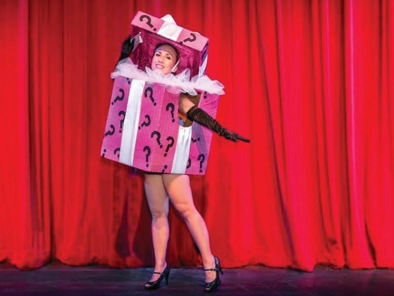 "Mona Amour, aka Monika Jarzecka, performs as part of the Key West Burlesque's ""Big Bawdy Boo-lesque Show."" COURTESY PHOTO"