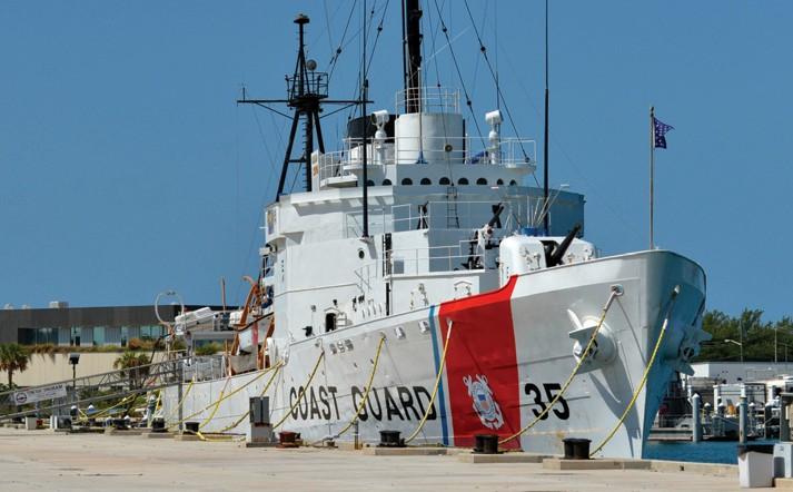 The U.S. Coast Guard Cutter Ingham.