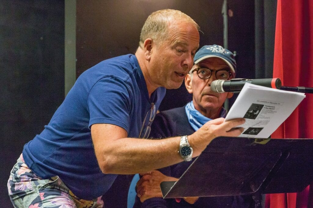 Tom Thayer and John McDonald in Waterfront Playhouse's On the Air series. COURTESY PHOTO
