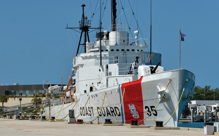 The U.S. Coast Guard Cutter Ingham.