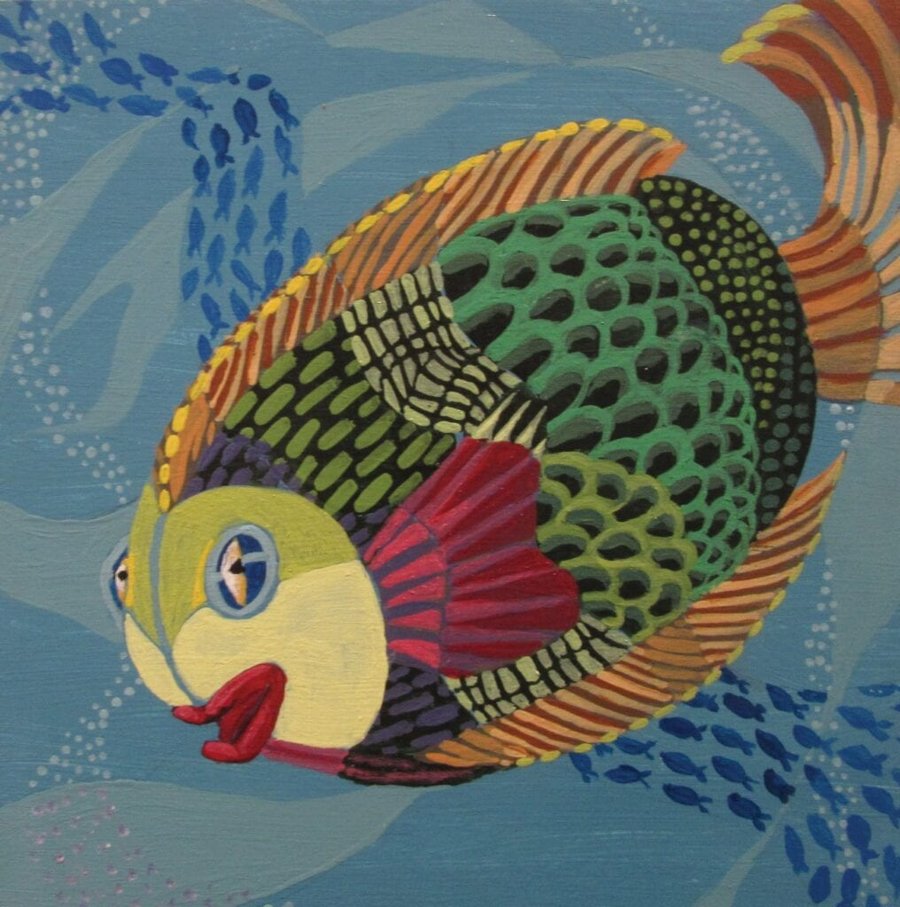 """""""Fishes,"""" by Haley Herriott, at the Key West Art Center & Gallery. COURTESY PHOTO"""