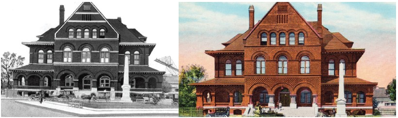 The Custom House Museum through the years. COURTESY PHOTO