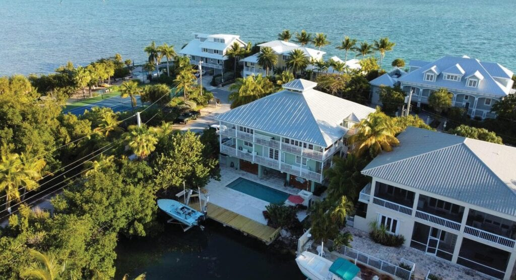 This house, at 44 Floral Ave., is listed at $2,150,000. It's four bedrooms and five baths in 4,125 square feet. It has panoramic water views, dock space and a pool. TRUMAN & CO. REAL ESTATE SERVICES