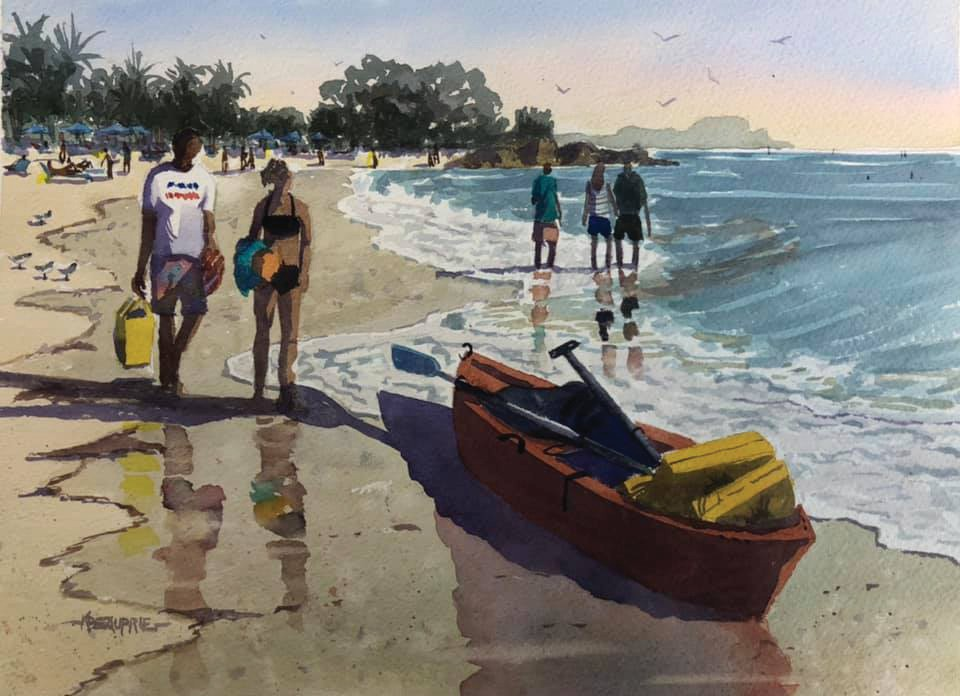 "Karen Beauprie's ""Beach Walk,"" from the Key West Art Center & Gallery. COURTESY PHOTO"