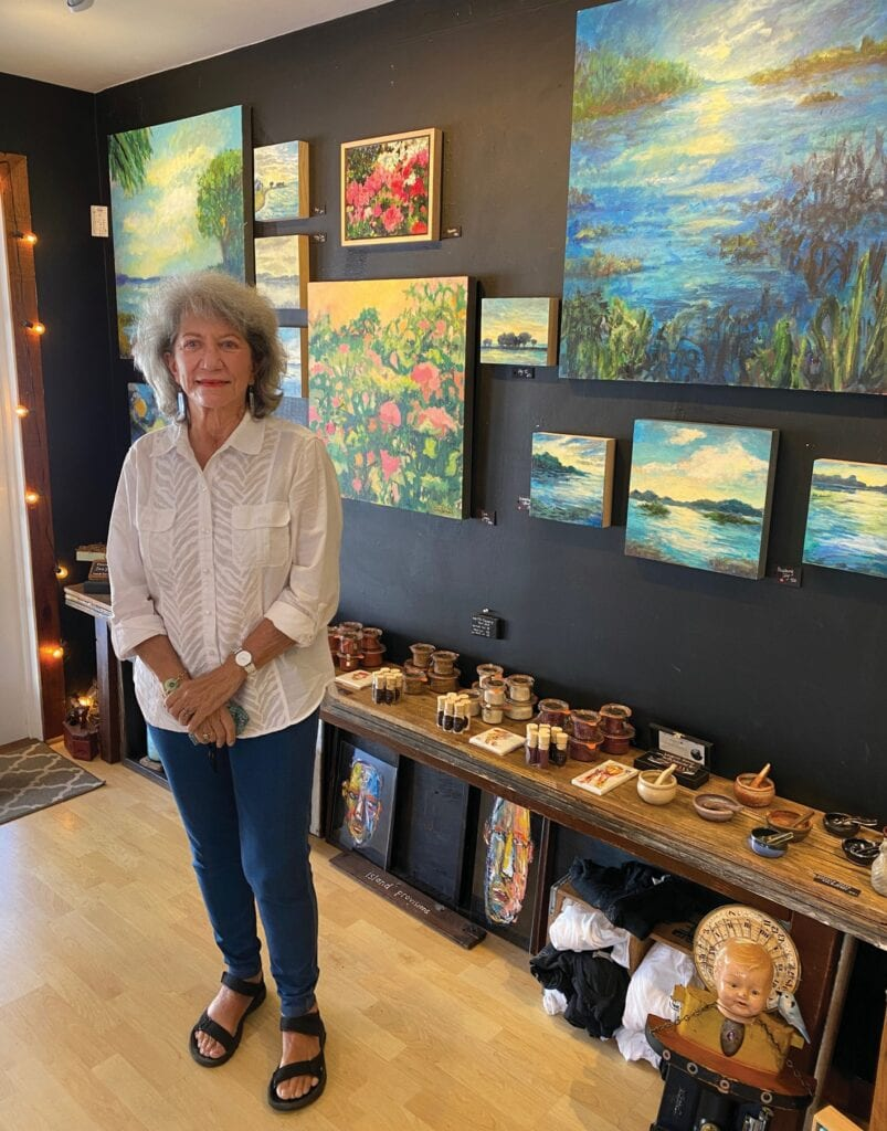 Artist Jane Gilbert is exhibiting at Salt Island Provisions until March 31. COURTESY PHOTOS