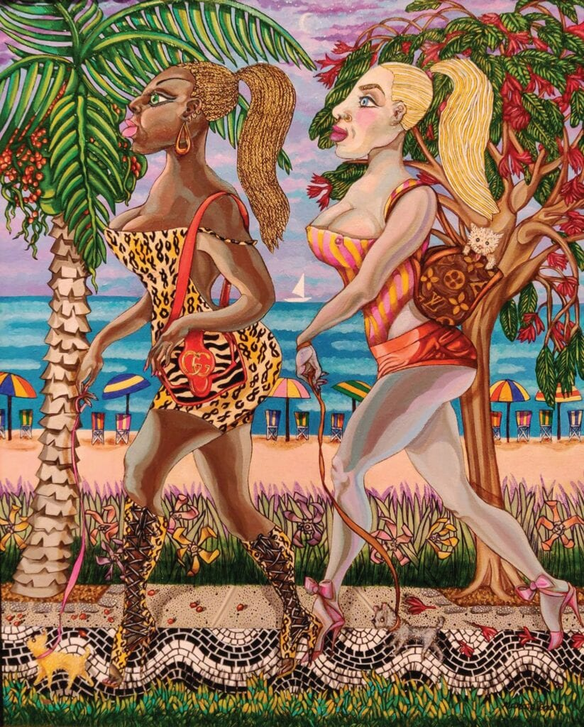 """See """"South Beach Goddesses,"""" by Olga Manosalvas, at Collections, Key West Gallery. COURTESY PHOTO"""