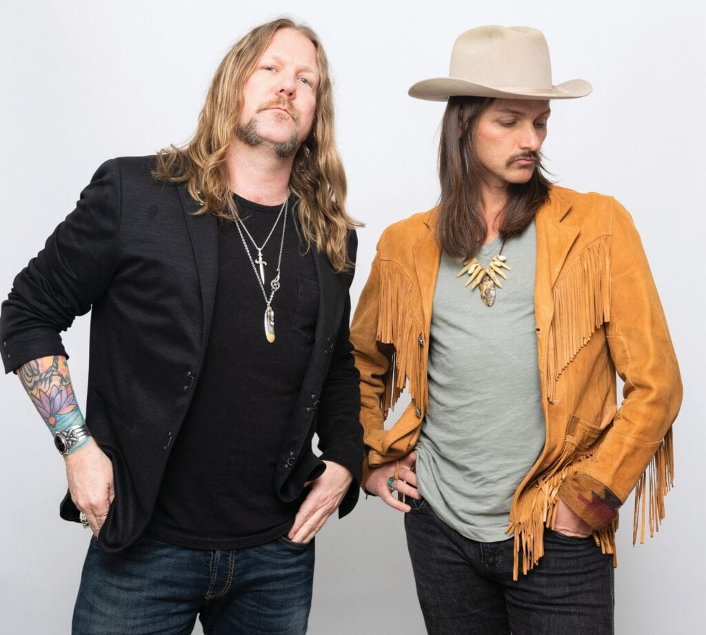 Devon Allman (left) and Duane Betts for the Allman Betts Band are touring as the Allman Betts Band. That tour brings them to the Key West Theater for four shows June 1-2. PHOTO BY KAELAN BAROWSKY